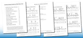 christmas carols for guitar music chords u0026 tab pdf book