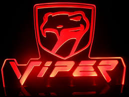 sneaky pete viper 1 logo sport car dodge led lamp night light man