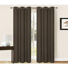Chocolate Curtains Eyelet Set 2 Ultrasol Curtains Eyelet Microfibre 3 Pass Block Out