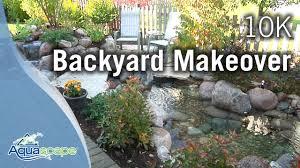 Backyard Renovation Tv Shows by Aquascape Designs 10 000 Backyard Makeover Youtube
