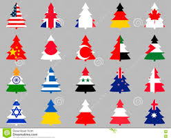 firs with flags of different countries around the world