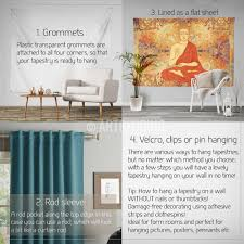 How To Hang Art On Wall by Boho Tapestry Sacred Yantra Wall Tapestry Hippie Tapestry Wall