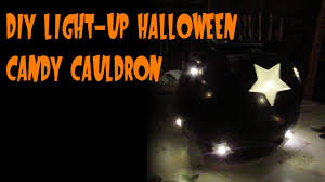 Halloween Safety Lights by Diy Light Up Halloween Candy Cauldron Youtube
