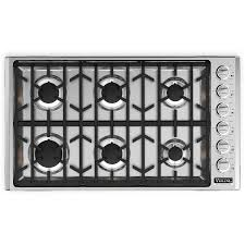 viking professional 5 series 36 inch 6 burner natural gas cooktop