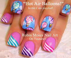 easy air balloon festival nail art design tutorial youtube