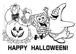 spongebob squarepants coloring page free printable halloween