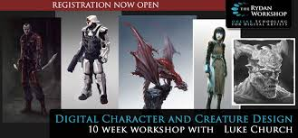 digital character and creature design live online course