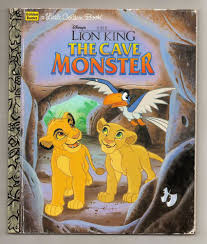 golden book lion king cave monster 1996 hard