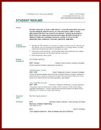 Resume Template For Graduate Students Sample Resume For Working Student Sample Graduate Student Resume