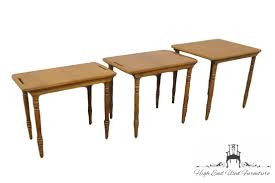 conant ball coffee table high end used furniture conant ball maple set of nesting tables 4021