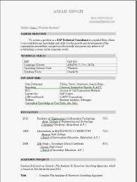 Sap Resume Examples by Marvellous Sap Abap Fresher Resume Doc 96 In Free Resume Templates
