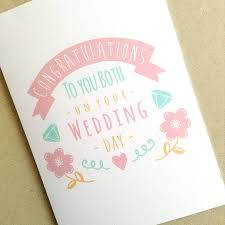 wedding day congratulations personalised congratulations wedding day card by ello design