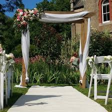wedding arches for hire melbourne wooden wedding arches with white draping ceremonies i do