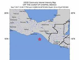 Chiapas Mexico Map Mexico Rocked By Huge Earthquake Metro Newspaper Uk