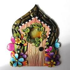 Garden And Home Decor Dragon Egg Fairy Door With A Pet Door By Claybykim Polymer Clay