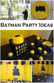 batman party ideas and yellow batman party ideas