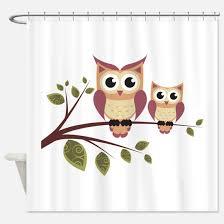 Owl Fabric Shower Curtain Cute Owl Shower Curtains Cute Owl Fabric Shower Curtain Liner