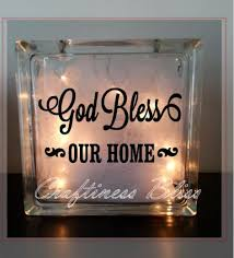 religious decorations for home god bless our home religious inspirational quote night light