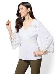 sleeve white blouse s tops york company free shipping