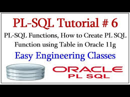 Create Table In Oracle Pl Sql Functions How To Create Pl Sql Function Using Table In