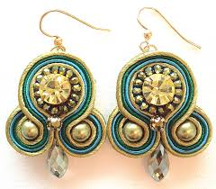 soutache earrings scintilla green soutache earrings bliss jewelry accessories