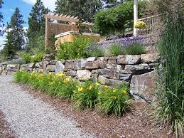 stylish and peaceful rock wall garden designs rock garden design