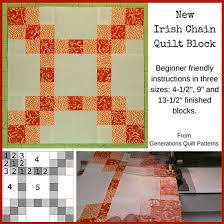 new chain quilt block 4 1 2 9 and 13 1 2