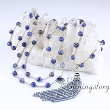 tassel necklace bead images Boho tassel necklace crystal beaded tassel pendant necklaces jpg