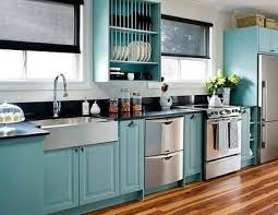 Colorful Kitchen Cabinets These Are Painted Ikea Cabinets - Turquoise kitchen cabinets