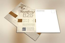 thanksgiving charity postcard template design bundles