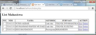 membuat form html online cara update dan delete data mysql dengan php belajarphp net
