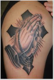 25 praying tattoos for the faithful