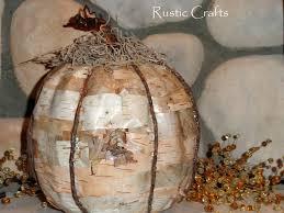 birch bark pumpkin craft rustic crafts u0026 chic decor