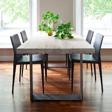 grey oak dining table and bench metal and wood dining table this wooden is accented by the bands 4