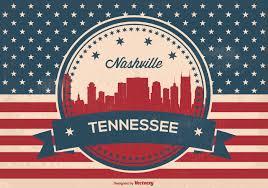 Houston City Flag Retro Nashville Skyline Illustration Download Free Vector Art