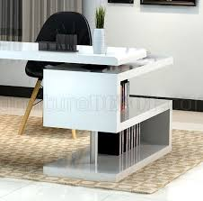 modern office desk by j u0026m in white lacquer