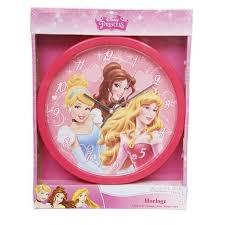 deco chambre princesse disney horloge princesses disney décoration chambre enfant au top
