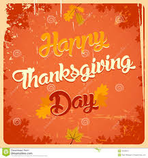 happy thanksgiving day vintage poster stock vector image 44065971
