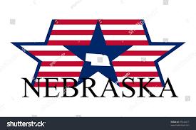 Nebraska State Map Nebraska State Map Flag Name Stock Vector 95645677 Shutterstock