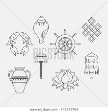 Buddhist Treasure Vase Buddhist Symbolism 8 Auspicious Vector U0026 Photo Bigstock