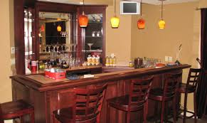 bar awesome home bar in basement with mirror decor idea for