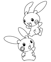 plusle minun coloring free printable coloring pages