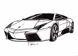 lamborghini sketch side view sports car lamborghini coloring pages womanmate com