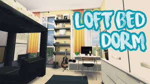 Dorm Room Loft Bed Plans Free by The Sims 4 Loft Bed Dorm Room Build Youtube