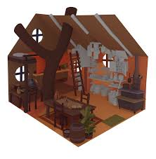 house animated gif artstation tree house arthur sarah gonçalves
