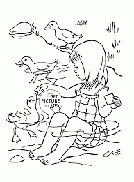 cute ducks coloring page for kids summer coloring pages