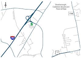 Florida Turnpike Map by Maine Turnpike Authority Park U0026 Ride Lots