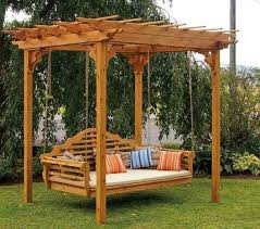 Backyard Arbors Pergola With Swing Home Design Styles