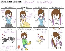 Naked Meme - character challenge meme with honeey by pittysoares on deviantart