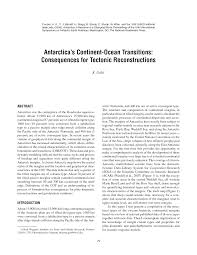 Continents And Oceans Map Blank by Antarctica U0027s Continent Ocean Transitions Consequences For